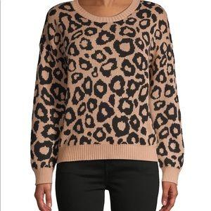 BCBGMAXAZRIA Leopard-Print Sweater *Brand New